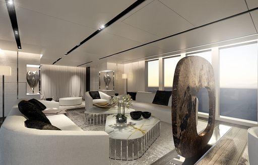 serene skylounge on board superyacht OURANOS