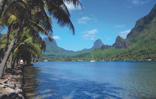 The waters of Tahiti