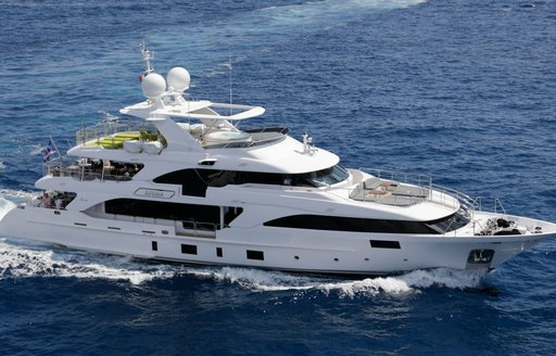 Superyacht EDESIA on the ocean