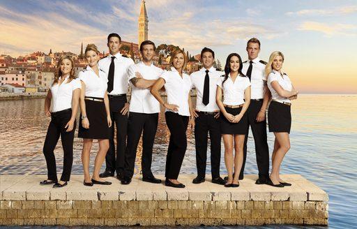 Cast members from Below Deck Bravo Mediterranean TV Series
