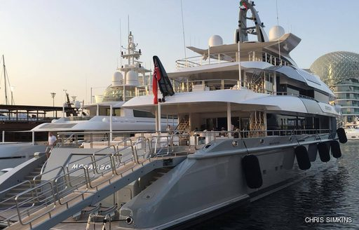 superyacht MOGAMBO makes an appearance at the Abu Dhabi Grand Prix 2016