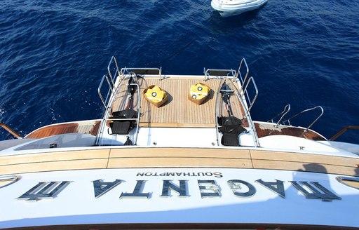 luxury yacht magenta m swim platform
