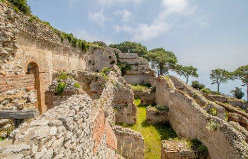 Remains of Villa Jovis in Italy