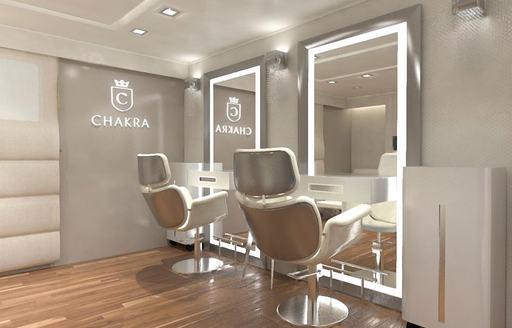Beauty salon on Superyacht CHAKRA