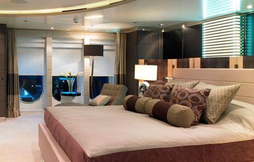 Stateroom on luxury yacht ELYSIAN
