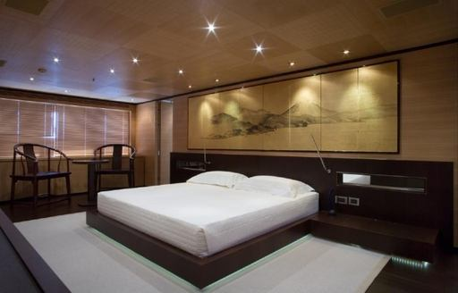 full-beam master suite on board superyacht MISCHIEF