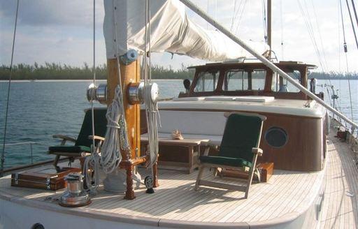 The perfect spot to sunbathe on charter yacht 'Sea Diamond'