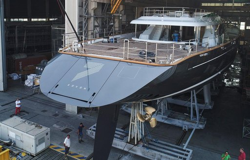 sailing yacht SEVEN prepares to hit the water