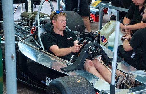 driver in racecar during monaco grand prix