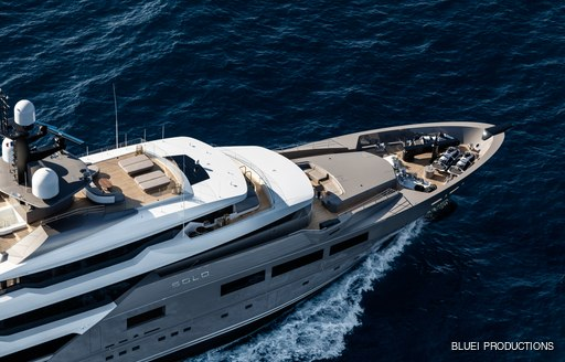 Solo charter yacht underway