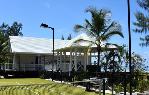 tennis court on thanda island