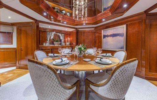 Yacht ARIADNE's dining areas