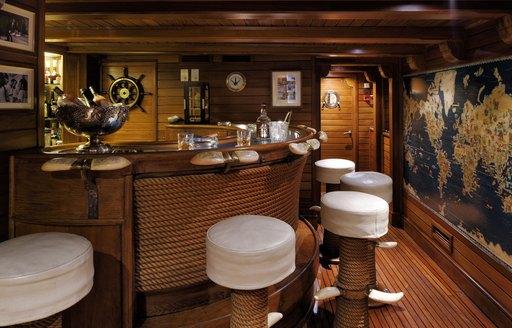 iconic bar onboard superyacht christina o