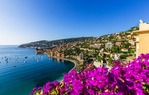Long shot of the French Riviera