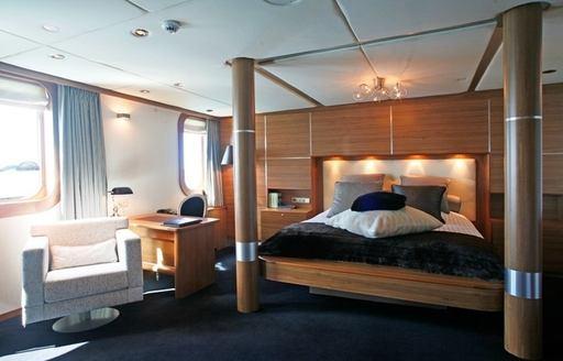 luxury motor yacht SHERAKHAN's master suite