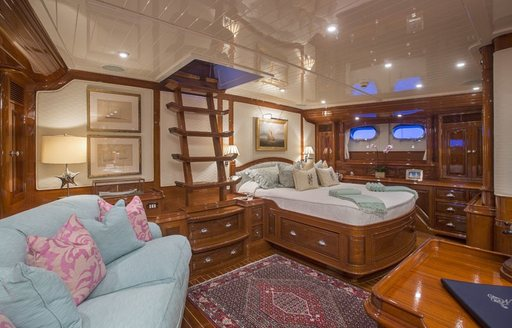 spacious master suite on board sailing yacht Whisper