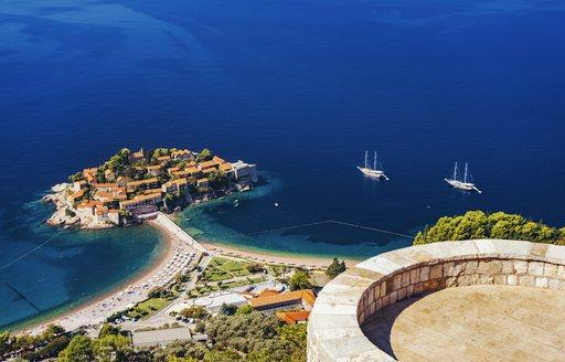 little island off the coast of montenegro