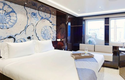 superyacht soaring guest cabin