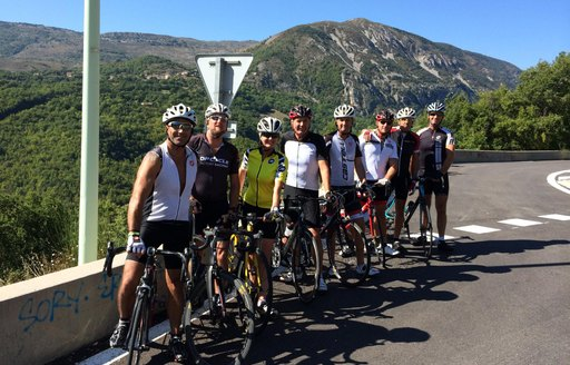 bike readers of cogs for cancer campaign training in france