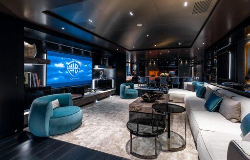 cinema room on board superyacht solo