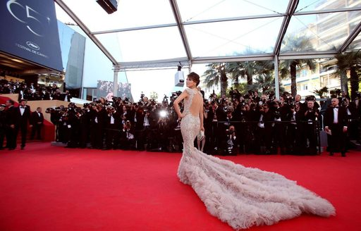 Actress at the Cannes Film Festival in Monaco