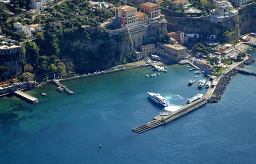 yachts in the port of sorrento