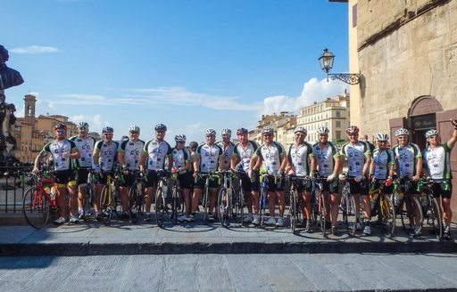 The team of riders on day 2 of the Cogs4Cancer cycle