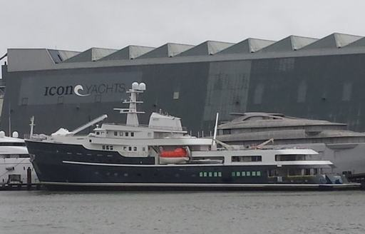 charter yacht LEGEND after her launch outside Icon Yachts shipyard