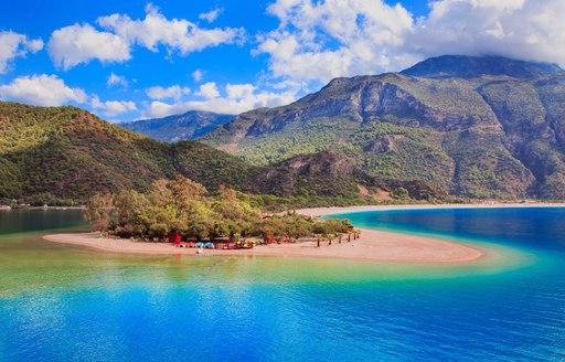 stunningly beautiful Oludeniz lagoon along Turkey's Turquoise Coast
