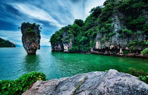 Atmospheric James Bond Island near Phuket, Thailand