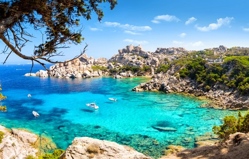 Secluded beach on the Italian island of Sardinia