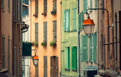 colourful houses line the streets of Le Suquet in Cannes