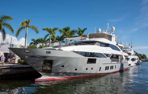 a luxury superyacht showcasing its impressive and sumptuous design at FLIBS 2019