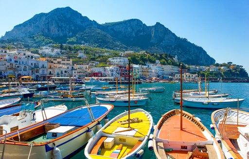 Italian fishing boats in Marina Grande harbor