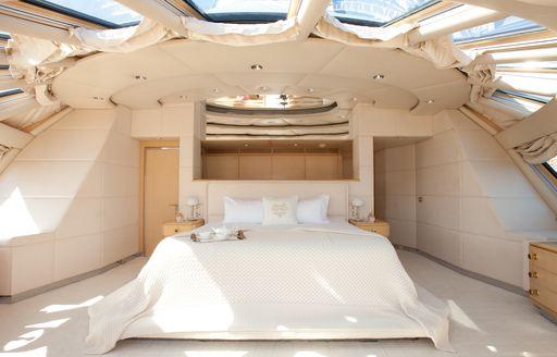 Owner's cabin on luxury yacht AZZURRA II