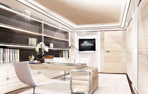 office on luxury yacht o'pari