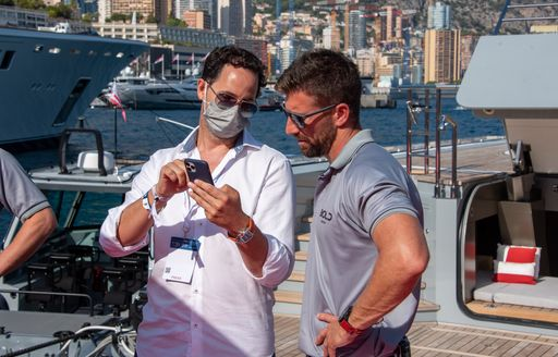 YCF chats to an MY BOLD crew member at the MYS 2021