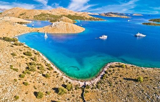 Kornati archipelago in Istria region in Croatia