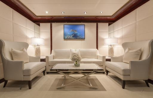 Superyacht private office area