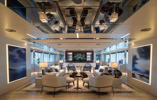 main salon on luxury yacht tatiana