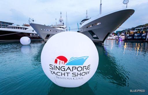 A promotional shot for the Singapore Yacht Show