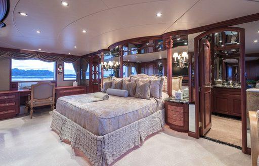 Shogun motor yacht stateroom