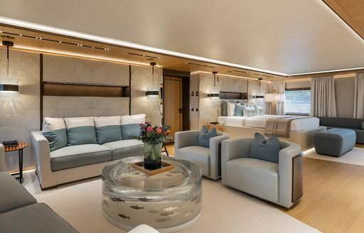 seating space on superyacht la datcha