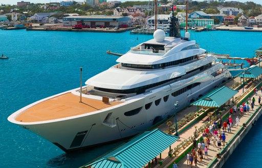 Megayacht in the Bahamas
