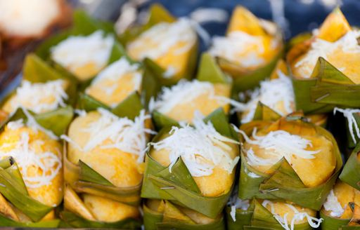 banana pancakes are an extremely popular sweet treat served across Thailand