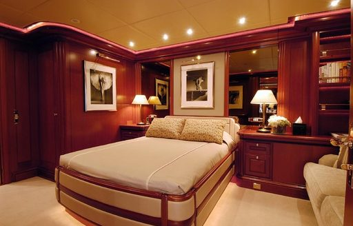 Double stateroom on board sailing yacht ATHENA