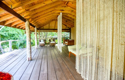 The light wood exterior of the St Vincent Treetop Spa
