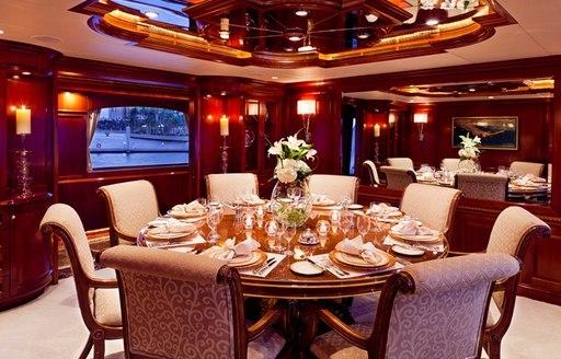 superyacht attitude dining area
