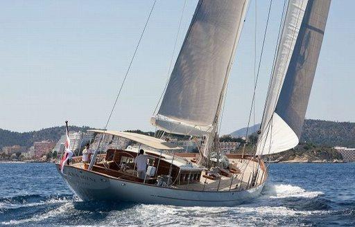 charter yacht ANNAGINE cruising on charter in the Mediterranean