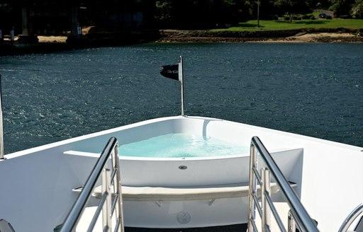 luxury charter yacht tango swimming pool